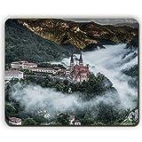 Yanteng Tappetino per Mouse, Villaggio di Montagna covadonga Spagna, Game Office Mousepad