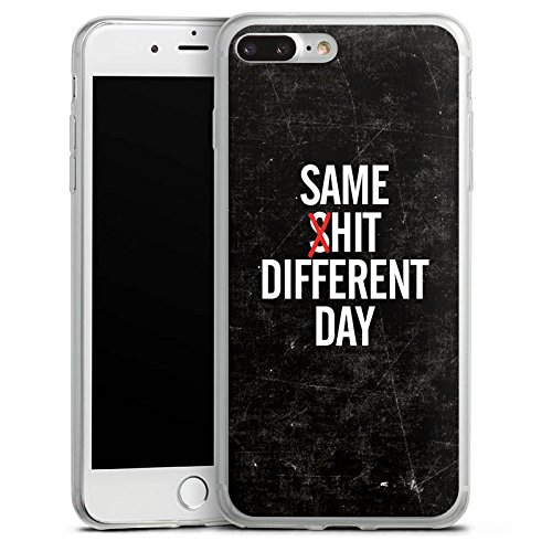 Apple iPhone 8 Slim Case Silikon Hülle Schutzhülle Sprüche Spruch Statements Silikon Slim Case transparent