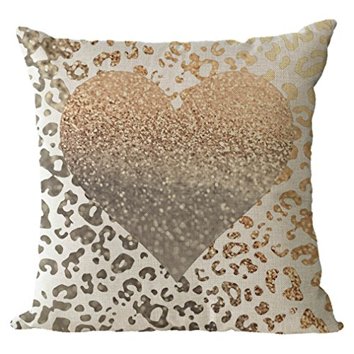 Nunubee cotone e lino shabby chic animale copricuscini e federe cuscini decorativi per divano letto 45x45cm