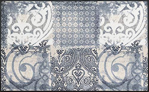 wash+dry Fußmatte, Acryl, Grau, 75x120 cm