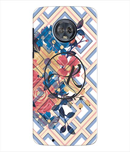 Inktree® Printed Designer Silicon Back Cover for Moto G6 - Alphabet K