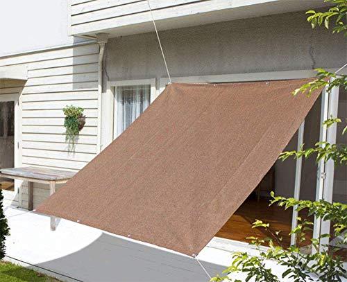 ZJDU Sonnensegel, Gebogenes Rechteckiges UV-Blockierendes Sonnensegel Für Den Außenbereich Und Den Swimmingpool,4×7m