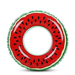 Zhuhaimei,Wassermelone aufblasbare Schwimmring Pool Float für Erwachsene Kinder