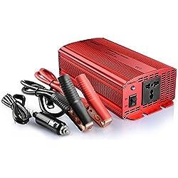 Bestek 1000 W Potencia Inversor Dc 12 V A Ac Toma de 230 V 240 V Convertidor Adaptador de Fuente de Alimentación Con Encendedor de Cigarrillos En El Coche y Pinzas de Cocodrilo para Batería