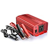 BESTEK 1000W Power Inverter DC 12V to AC Outlet 230V 240V Converter Power Supply with Cigarette Lighter Adapter in Car and Crocodile Clip for Battery