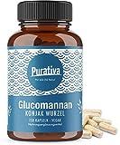 Glucomannan Kapseln hochdosiert (150 Kapseln) - Konjak Wurzel - Trägt im Rahmen einer kalorienarmen Ernährung zum Abnehmen bei - Sättigung, Appetitzügler, Gewichtsverlust - Ohne Zusätze - 100% vegan