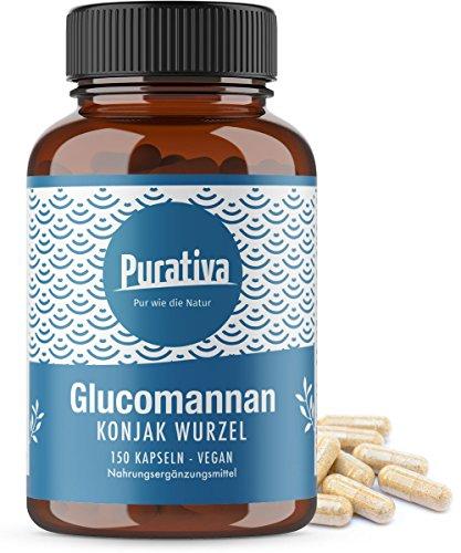 glucomannano 150 capsule - radice konjac - Aiuta nel contesto di una dieta ipocalorica per la perdita di peso su - saturazione, soppressori dell'appetito, perdita di peso - senza additivi - vegano