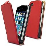 Etui clapet Simili Cuir Rouge iPhone 5/5S