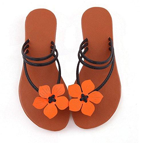 COOLCEPT Mode Infradito Sandali Scarpe da Estate Punta Aperta Nero
