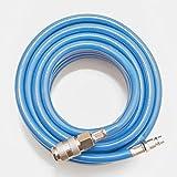 Druckluftschlauch mit Kupplungsmuffe und Kupplungsstecker (PVC, bis 15 bar) (10 m)