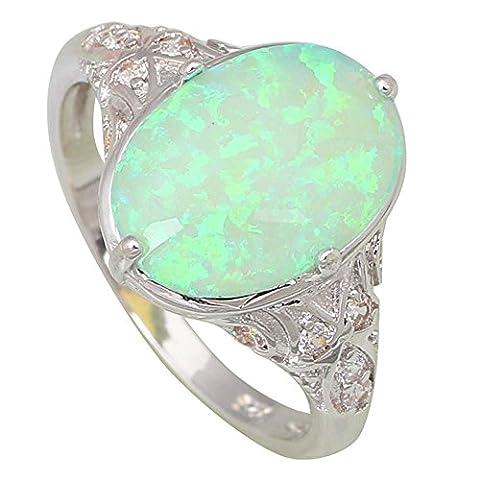 Fashion Opal rings Fina Jewelry Women's rings Green Fire Opal