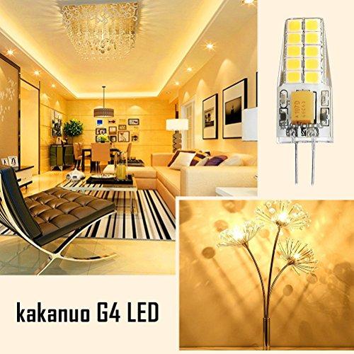 Kakanuo lampadine led g4 3w equivalenti a 30w bianco caldo for Lampadine a led g4