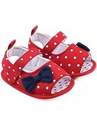 quality design 9a9ed 5f7c5 Zapatos Bebe niña LANSKIRT Zapatos de Lunares Suaves para niños pequeños  Zapatillas de Arco Zapato Moda