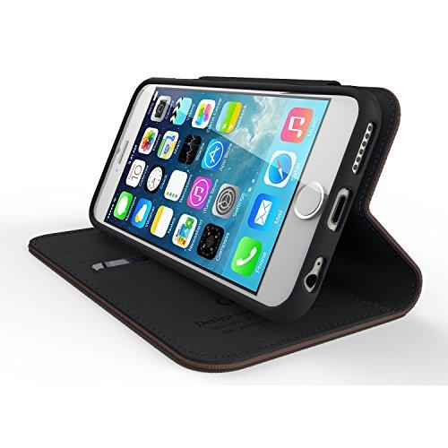 Cellto iPhone 6 Fall [Soft Flexible] Super dünne [0,33 mm] TPU Kasten-Schirm-Schutz ** NEU ** [Precision Fit] Premium-Flex weichen Silikon-Hülle - Einzelhandel Öko-Verpackung - Slim Case [Weiß / Viole Dark Brown