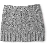 b371f8001cbd6 Mzq-yq Cachemira Sombrero de Punto Mujer Invierno Cálido Salvaje Lindo Gato  Trenzado Cashmere Lana