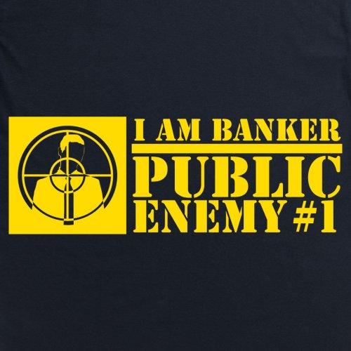 Square Mile Public Enemy Banker T-Shirt, Herren Schwarz