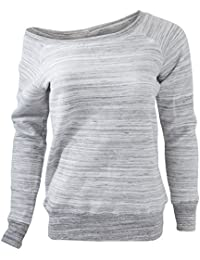 Bella Ladies/Womens Slouchy Wideneck Relaxed Fit Sweatshirt