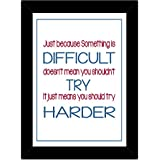 TIED RIBBONS® Motivational Posters With Frames - Motivational Quotes For Office And Room Décor(13.6 Inch X 10.2 Inch)