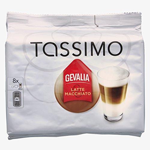 Tassimo Gevalia Latte Macchiato, Kaffee, Milchkaffee, Kaffeekapsel, 16 T-Discs (8 Portionen) (Kaffee Gevalia T-discs)