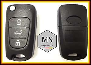 MegaKey-MS Schlüsselgehäuse Autoschlüssel Ersatz Schlüssel KEY Gehäuse incl. Rohling HY-KS12