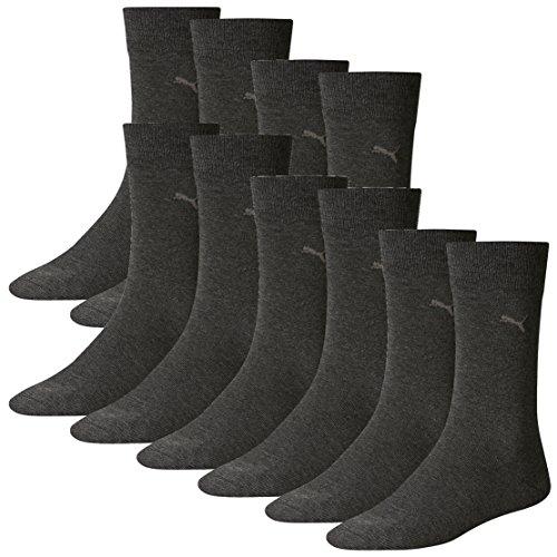 PUMA Herren Classic Casual Business Socken 10er Pack (Anthracite, 43-46)