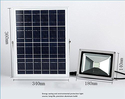 Qqa proiettore faretto solare da esterno proiettore per