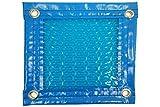 Thermodecke (Topper térmico-cubierta isotérmica-toldo 400Mikron für Pool) Geo Bubble mit Verstärkung Rundum + Ösen in Edelstahl + Abdeckung Schutz für Topper Solar + Aufroller Teleskop. 10 x 4m.