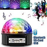 JUDYelc Crystal Ball Disco Bluetooth Bühnenlampe mit Fernbedienung Sound Aktiviert