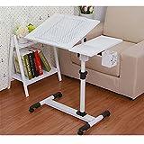 Qisheng Laptop Schreibtisch Tisch Portable Tisch höhenverstellbar und Neigung mit Rollen und...