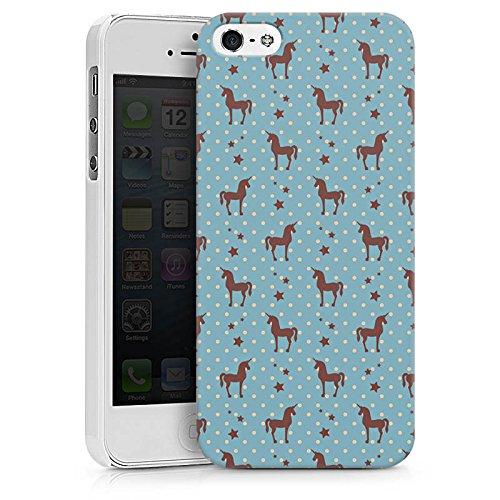 Apple iPhone X Silikon Hülle Case Schutzhülle Einhorn Unicorn Muster Hard Case weiß