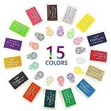 Stempelkissen,15 Farben Stempel Tinte,Nakeey Mehrfarbige Stempelkissen Set,Stempelfarbe Fingerdruck Stamp Pads für Kinder,Fingerabdruck,Scrapbook,Papier Handwerk Stoff,Hochzeit Malerei