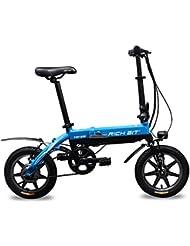 Eléctricas Bicicletas Plegables Bastidor De carretera BMX Azul 14 pulgadas mini Rueda 250W*38V Shimano set 7 velocidades Richbit RT 618 Azul