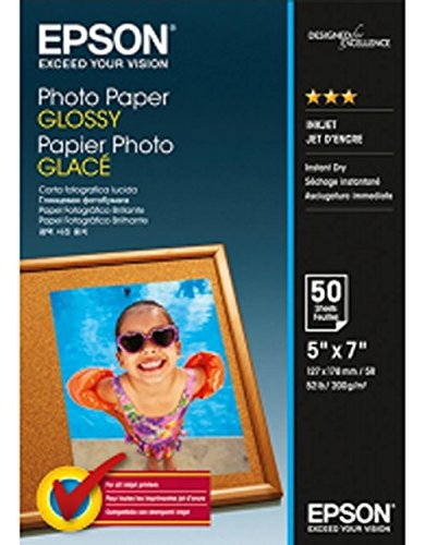 Epson C13S042545Photo Paper Glossy 13x 185013x 18cm Fotopapier (Fotopapier 5x7 Glänzend)
