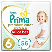 Prima Premium Care Külot Bebek Bezi, 6 Beden, 56 Adet, Ekstra Large Süper Fırsat Paketi