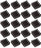 Easycargo Kühlkörper, 14 x 14 x 7 mm, eloxiert, Schwarz, für Kühler, GPU-Chips, VRAM, VGA, VRAM, RAM (14 x 14 x 7 mm)