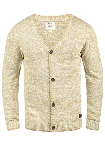 REDEFINED REBEL Miles Cardigan, Größe:L;Farbe:Sand (Neue Strickjacke Pullover Herren)
