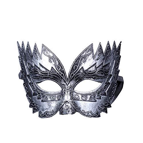 Fansi Damen Herren Maske Venezianische Maskerade Masquerade Venedig Karneval Partei Maske Mode Retro Halloween Weihnachten Kunststoff Maske