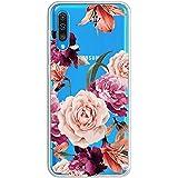 Caler Cover Compatibile con Samsung Galaxy M20 Custodia Trasparente con Disegni TPU Morbida Bumper Protettiva Case con Motivo Carino in TPU Silicone Antiurto 3D Vogue Ultra Chic