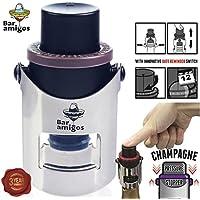 Bar Amigos® Champagne Pressure Stopper Grey Gris – De Cava Tapón de presión para botellas