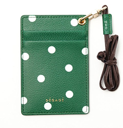 Degage Dot Karte Halter grün (Wallet Kollektion Slim Super)