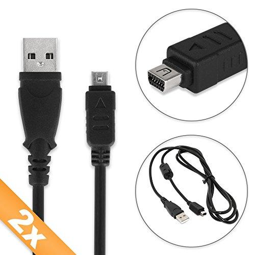 520 Usb (subtel 2X USB Kabel kompatibel mit Olympus OM-D E-M10 E-M1 E-M5 Mark II Pen-F Pen E-PL7 E-PL1 E-420 E-410 E-520 E-510 XZ-1 XZ-2 TG-4 TG-870 TG-Tracker Stylus 1 Micro, Mini 12 Pin Ladekabel Datenkabel)