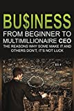 Business: From Beginner to Multimillionaire CEO, the reasons why some make it an (Business books, plans, adventures, business model generation. business management, business communication)