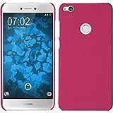 PhoneNatic Case für Huawei P8 Lite 2017 Hülle pink gummiert Hard-case + 2 Schutzfolien