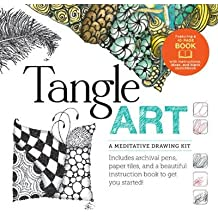 Tangle Art: A Meditative Drawing Kit: Includes Archival Pens, Paper Tiles, and a Beautiful Instruction Book to Get You Started! (Hardback) - Common