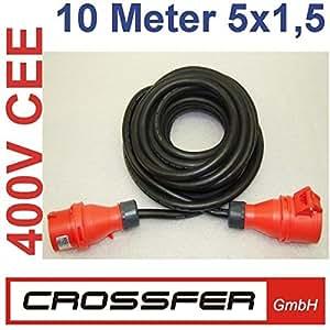 Crossfer - Rallonge Electrique 10 M 1,5 Mm 380V