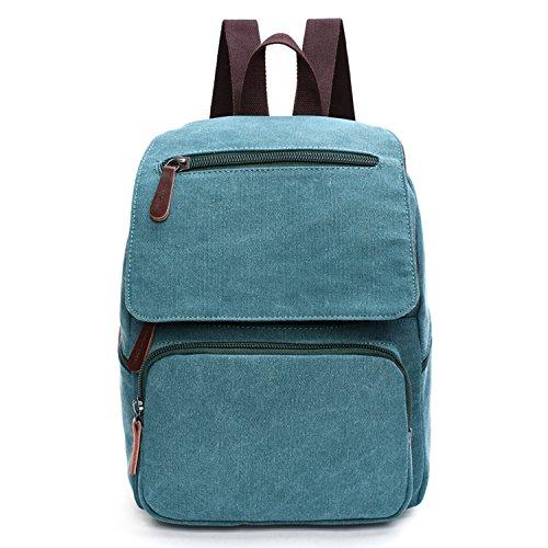 Outreo Zaini Scuola Laptop Backpack Zaino Donna Borse Viaggio Borsa Università Ragazza Vintage Bag per Studenti Borsello Casual Sacchetto Firmate Blu One