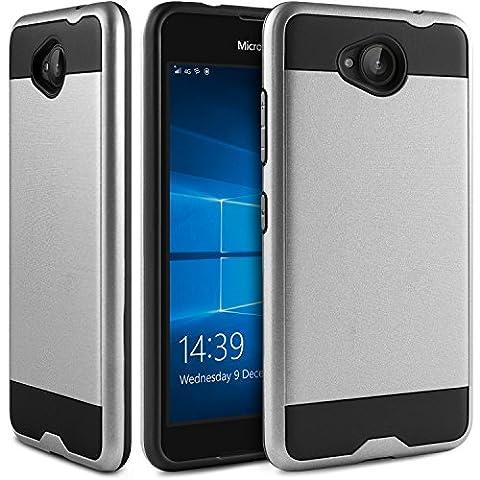 Microsoft Lumia 650 Hülle, BEZ® Hybrid Silikon Stoßfest Handyhülle Slim Armor Drop Resistance Case Cover (Custodia Protettiva In Gomma)