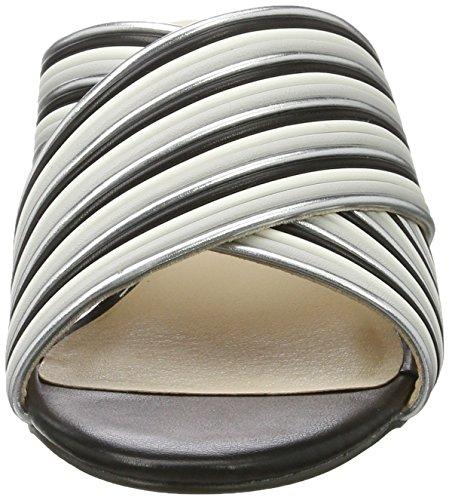 Blink Damen Bl 1295 Bnew-Taffyl Offene Sandalen Mehrfarbig (Silver/Grey/Wht/Blk)