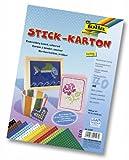 Folia 2347 - Carta adesiva Sisal, 300g/m², 17,5 x 24,5 cm, 40 fogli, vari colori, non stampati