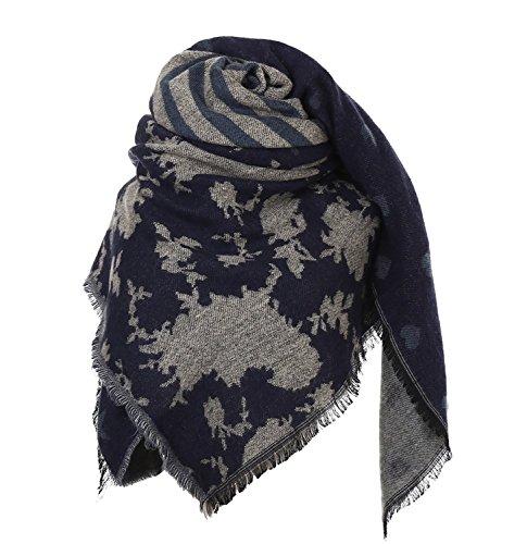 Glamexx24 XXL écharpe écharpe chaude câlin écharpe écharpe dames écharpe poncho écharpe couverture surdimensionnée
